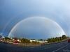Fisheye double rainbow