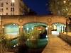 Waterway at night