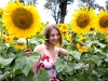 Desi and the sunflowers