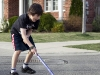 Easton playing hockey