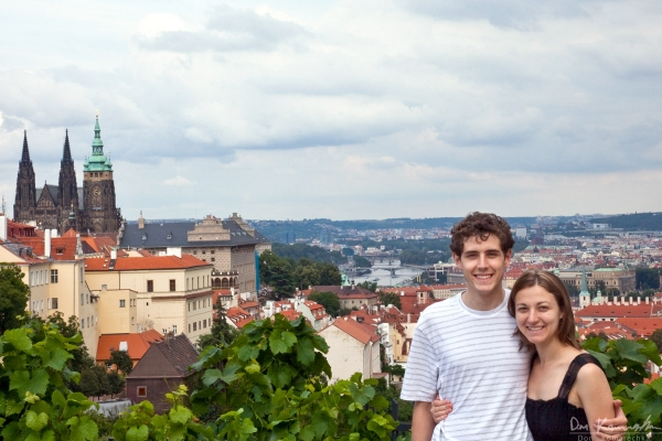 Desi and I in Prague