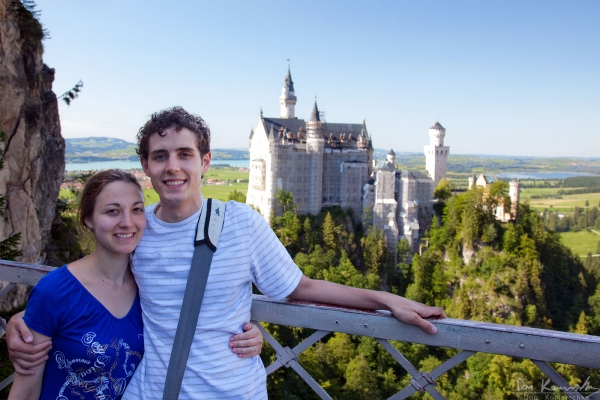 Desi and I at Neuschwanstein