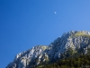 Mountainside moon