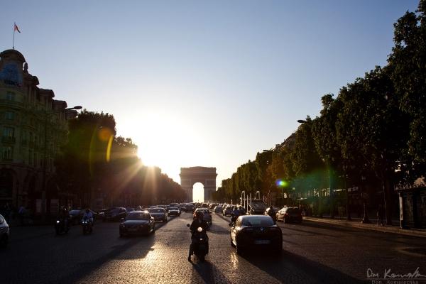 A Paris street center