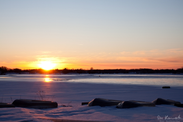 Sunset from Muskey's Landing, Port Severn