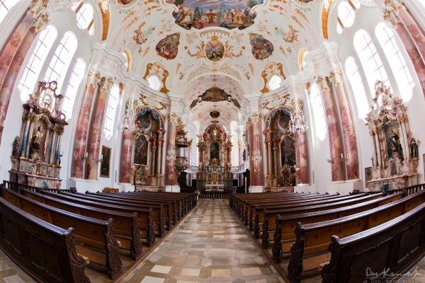 Fisheye: Frauenkirche (Günzburg)