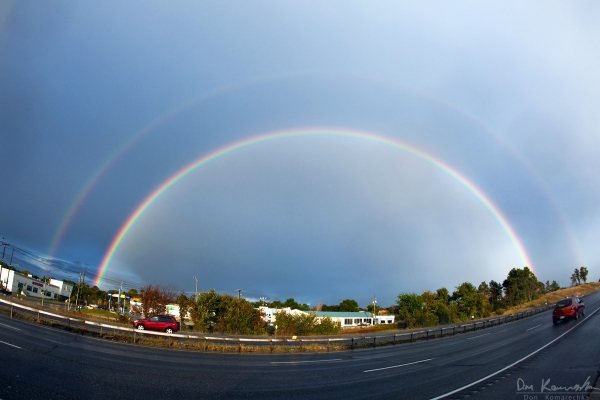 Fisheye Double Rainbow