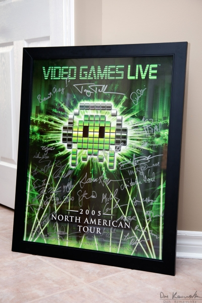 Video Games Live autographed poster